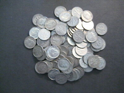 U.S. 90% SILVER COINS - $10.00  Face Value - * 100 Silver Dimes Lot *-