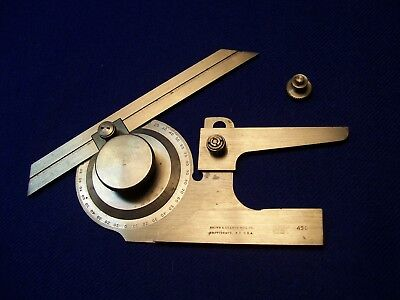 """Used Excellent Brown & Sharpe No. 496 Universal Bevel Protractor 6"""" Blade No Box"""