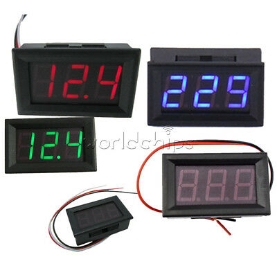 "AC 70-500V 0.56"" 2/3 Wires Red/Green/Blue LED Digital DC 5V-30V/120V Voltmeter"