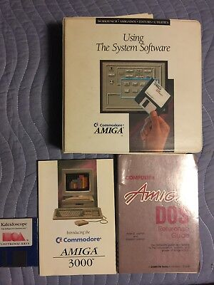 Amiga 3000: Using the System Software + Compute's DOS reference with receipt