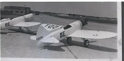 Vintage Original Aircraft Photo Negative Mike & Ike @ Midway Airport Rare Howard