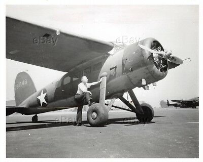 Vintage Aircraft Photo 294148 Lockheed Vega Ww2 La Ca Engineers Airplane Usaaf
