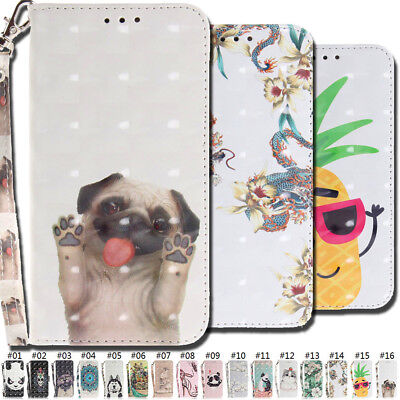 Wallet PU Leather 3D Flip Stand Strap Case Cover For Samsung Galaxy J3 Pro(2017)