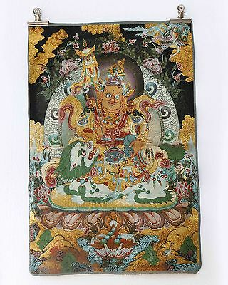 Old-Tibet-buddhism Collectable Silk Hand Painted  Painting Buddha Thangka   A925