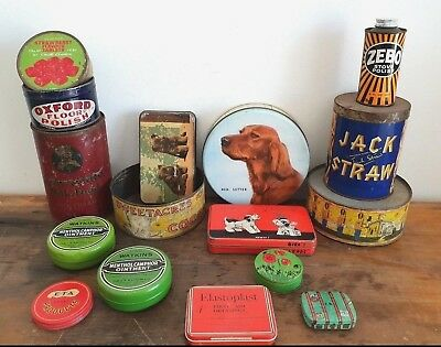 Vintage Tins, Zebo, Confectionery tin, sweetacres cocoa, mac Robertsons, Grocery