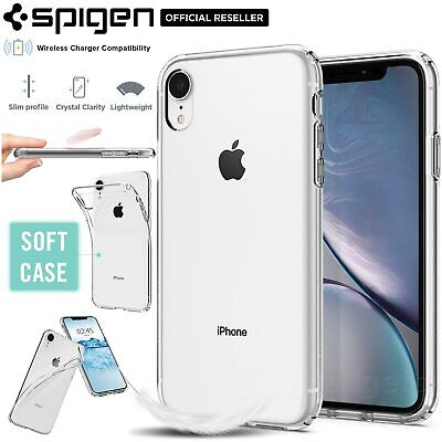 [FREE EXPRESS] iPhone XR Case, Spigen Liquid Crystal Exact Fit Cover for Apple