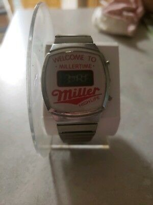 Vintage 1980's promotional watch Welcome To Miller Time Miller High Life beer