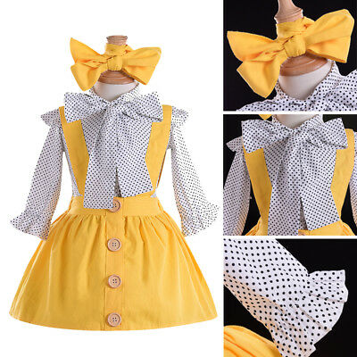 0238911cb1c US Toddler Kids Baby Girl Ruffle Tops Suspender Tutu Skirts Dress Outfit  Clothes