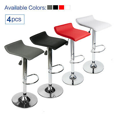 Incredible Set Of 4 Bar Stools Swivel Adjustable Dining Chair Pub Beatyapartments Chair Design Images Beatyapartmentscom