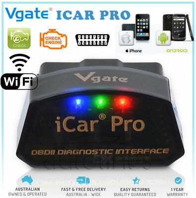 VGATE ICAR PRO WiFi Fault Code Reader Reset Diagnostic Scan Tool iPhone Android
