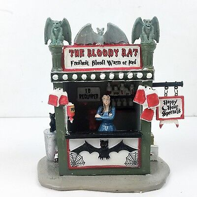 Lemax Spooky Town The Bloody Bat Halloween Village Rare Retired Table Accent