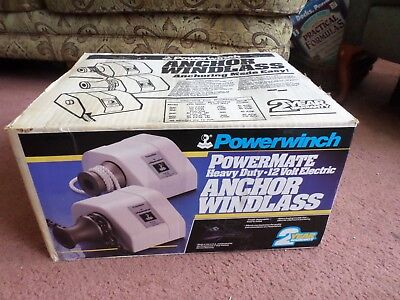 Powerwinch Powermate 12 Volt Electric Anchor Windladd Model 501 NEW!
