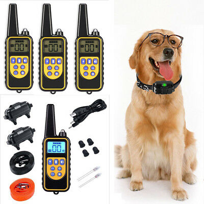 Dog Shock Collar Remote Waterproof Electric For Large 875 Yard Pet Training