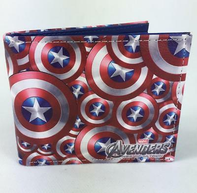 Captain America Shield Inspired Wallet In Pu Leather