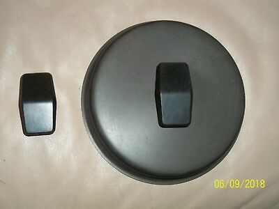 "Vintage Anodized Miracle Maid Pan Replacement 6"" Lid and Extra Handle"