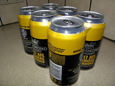 Richmond Tigers 6 Pack Beer  Afl Premiers 2017, Still In Holder Cans Full,