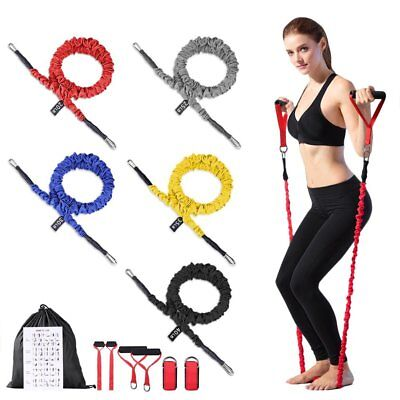 Widerstandsband Expander Set 11 in 1 Yoga Übung Fitness Tube Trainingsbänder Neu