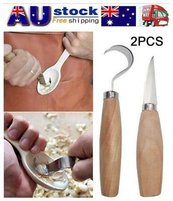 AU!! Spoon Carving Cutter Set Woodcarving Tool Crooked Hooked Whittling Cutter