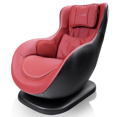 *Leisure Curved Massage Chair Heated W/Wireless Bluetooth Speaker &USB Charger