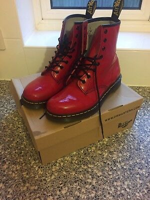 Dr Martens UK Boots size 8 Red Rouge