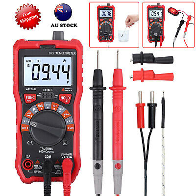 Electrical LCD Digital Clamp Meter RMS Multimeter AC/DC VOLT OHM Multi Tester AU