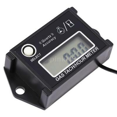 Digital LCD Engine Tachometer Tach/Hour Meter RPM Tester For Motorcycles UK I6X1