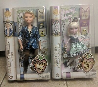 Ever After High Alistair Wonderland & Bunny Blanc Brand New in box!