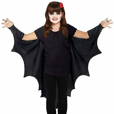Kids Gothic Vampire Bat Wings Costume Cape Fancy Dress Halloween Outfit New
