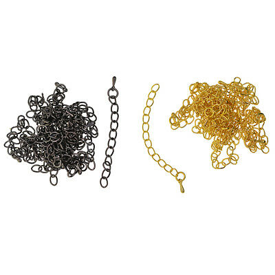 20pcs Bracelet Necklace Extension Link Chain Tail Extender Jewelry Findings