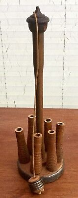 Antique Table Skittles From Old Wooden Parts Of The Weaving Industry.