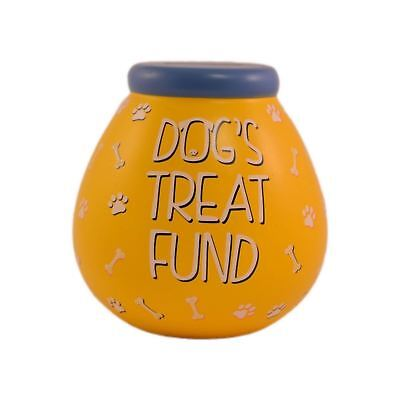 Pot Of Dreams Dog's Treat Fund Bright Orange Money Pot Savings Piggy Bank Gift