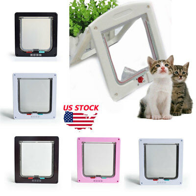 Dog Cat Flap Doors with 4 Way Lock Safe for Pets Entry & Exit-2018 New Design