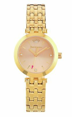 Juicy Couture Ladies Cali Gold Plated S/Steel Bracelet Analogue Watch