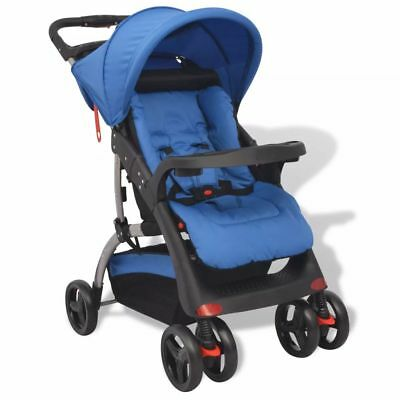 Baby Stroller Infant Buggy Pushchair Lightweight Foldable for Travel System Blue