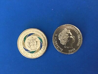Solomon Islands $2 Independence anniversary coin 2018