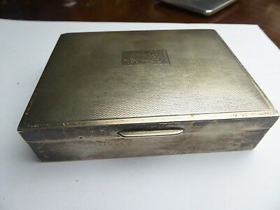 Vintage cigarette box  solid hallmarked sterling silver retailed by Harrods