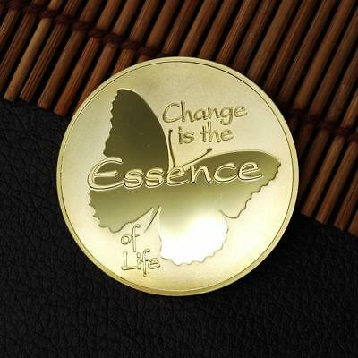 Butterfly's Changing Commemorative Round Coins Gold/Silver Souvenir Coins TOP