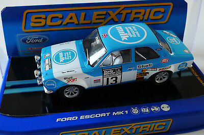Scalextric Ford Escort MK1 RS1600 No 13 1973 RAC Rally, C3029 OVP
