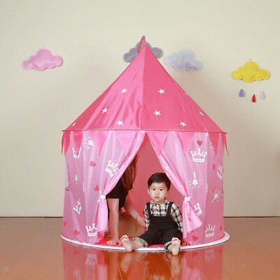 100x135cm Star Printed Tent Kids/Baby Ball Pit Play Tent Toy Garden Fun Red