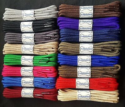 Shoe Boot Strong Round Laces - 19 colours - Popular on Dr Martens boots