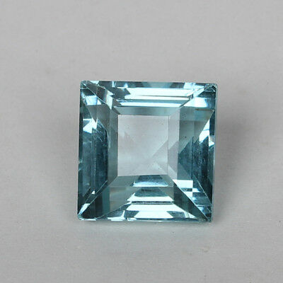 26.25 Ct. Natural Aquamarine Greenish Blue Color Square Cut Loose Certified Gem