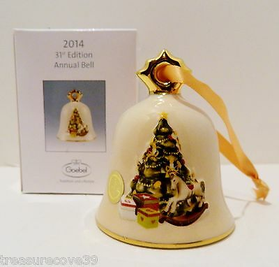 GOEBEL ORN. 31ST ED. ANNUAL BELL 2014 w.RAISED BAS RELIEF   #G109306   CLOSEOUT