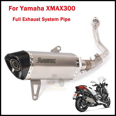 Slip On XMAX300 Full Exhaust Front Pipe + Carbon Muffler Pipe For Yamaha XMAX300
