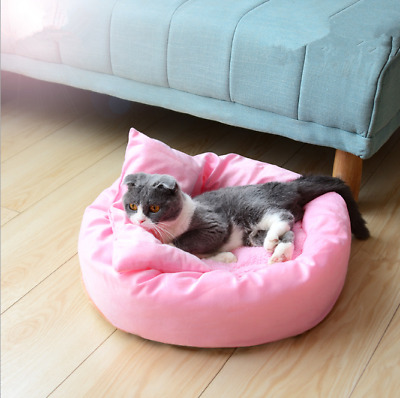 Cat Bed Pet Kennel House Cozy Warm Cushion Pad Puppy Cat Soft Sleeping Blanket