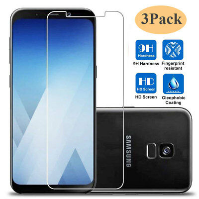 3Pack 9H Tempered Glass Film Protector for Samsung Galaxy J4 J6 Plus J8/J6 Prime