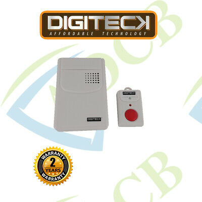 S4-New Wireless Panic Button & Receiver Alarm/Chime For The Elderly/Disabled Etc