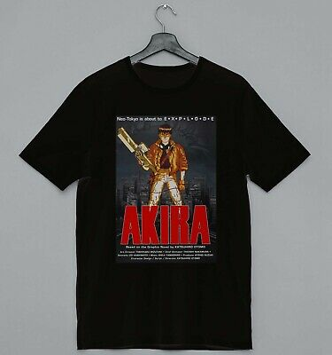 Cool Akira Poster Slogan Ideal Gift Unisex Black T-Shirt