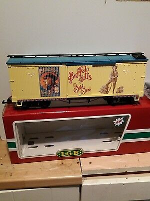 LGB G Buffalo Bill's Box Car 44670 Boxed