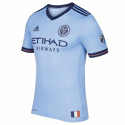 adidas New York City FC Authentic Home Shirt 2017-18 Mens Gents Football Jersey