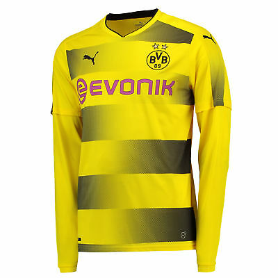 Puma Mens Football BVB Borussia Official Home Shirt Jersey 17/18 Long Sleeve Top